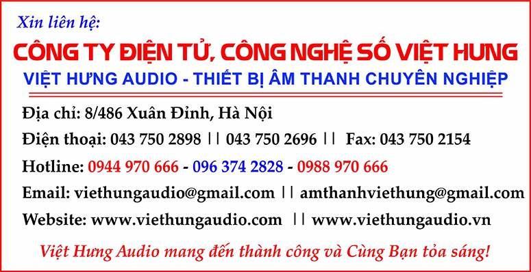 Việt Hưng Audio phân phối thiết bị phòng thu chính hãng