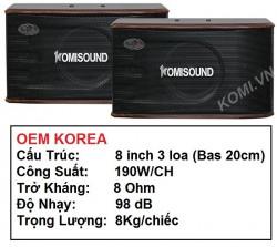 LOA KOMISOUND KM-106 loa chuyên nghe nhạc, karaoke, loa hội trường sân khấu