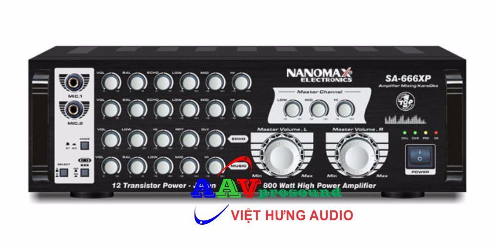 Amply Nanomax SA-666XP - Amply chất lượng hoàn hảo cho dàn karaoke