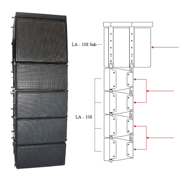 Loa Line Array LA - 108 AAV